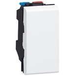077031 - Выключатель кнопочный перекидной, 1-модульный, Legrand Mosaic, 6А (белый)