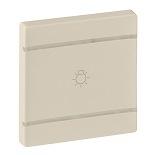 755231 - Лицевая панель для механизмов BUS/SCS с символом «Освещение», 2 модуля Legrand Valena Life (слоновая кость)