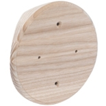 SV1-280 - Накладка на бревно Ø280мм, для распределительной коробки/светильника с диаметром основания до 120мм, круглая (ясень)