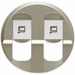 068552 - Лицевая панель для розетки 2хRJ45, Легранд Селиан (титан)