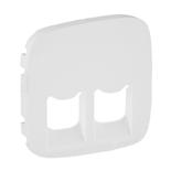 755425 - Лицевая панель для двойных телефонных/информационных розеток Legrand Valena Allure (белая)