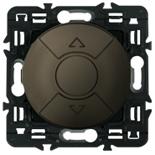 067955 + 067601 + 080251 - Переключатель управления приводами жалюзи, клавишный 6А, Легранд Селиан (графит)