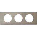 069103 - Рамка 3-постовая Legrand Celiane, прямоугольная, 242х82мм, металл (фактурная сталь)