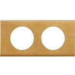 069132 - Рамка 2-постовая Legrand Celiane, прямоугольная, 171х83мм, металл (золото)