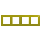 672544 - Рамка 4-х постовая Legrand Etika (зеленый папоротник)