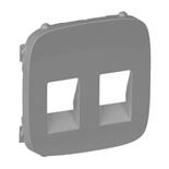 755377 - Лицевая панель для двойной аудиорозетки с пружинными зажимами Legrand Valena Allure (алюминий)