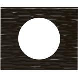 069021 - Рамка однопостовая Legrand Celiane, прямоугольная, 100х83мм, Corian® (чёрный рифленый)