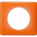 066651 - Рамка однопостовая Legrand Celiane, прямоугольная, 90х82мм (оранжевый муар)