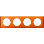 068764 - Рамка 4-постовая Legrand Celiane, прямоугольная, 303х82мм (оранж пунктум)