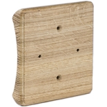 RK4-280-D - Накладка на бревно Ø280мм, для распределительной коробки/светильника с размером основания до 105х105мм, квадратная (дуб)