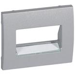 771375 - Лицевая панель Legrand Galea Life для телефонной/информационной розетки (RJ11/RJ45), на 1 или 2 разъёма, с держателем этикеток, алюминий