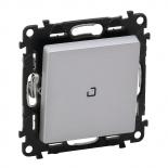 752007 + 665090 + 755102 - Выключатель-переключатель перекрестный с подсветкой Legrand Valena Life (алюминий)