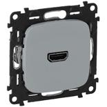 754717 - Розетка HDMI 1.3 для аудио/видео устройств, тип А, Legrand Valena Allure (алюминий)