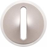 065103 - Лицевая панель для выключателя/переключателя с тонкой клавишей (контурная подсветка), Легран Селиан (титан)