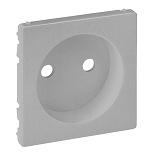 754972 - Лицевая панель силовой розетки 2К Легранд Валена Лайф (алюминий)