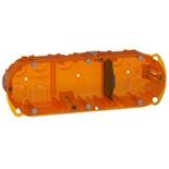 080103 - Монтажная коробка повышенной прочности, встраиваемая универсальная, 3-постовая (1х6/8), 40мм, d=67мм, Legrand Batibox