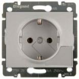 771324 - Розетка электрическая с механизмом выталкивания вилки, Legrand Galea Life, 16А (алюминий)