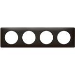 068984 - Рамка 4-постовая Legrand Celiane, прямоугольная, 303х82мм (карбон)
