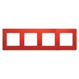 672534 - Рамка 4-х постовая Legrand Etika (красная)