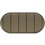 067905 - Лицевая панель для выключателя/переключателя с 5 клавишами, Legrand Celiane (графит)