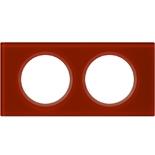 069472 - Рамка 2-постовая Legrand Celiane, прямоугольная, 172х84мм, стекло (смальта кармин)