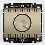 771459 + 775910 - Светорегулятор (диммер) поворотный, 1000 Вт, Legrand Galea Life (титан)