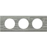 069043 - Рамка 3-постовая Legrand Celiane, прямоугольная, 242х83мм, металл (техно)
