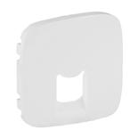 755415 - Лицевая панель для одиночных телефонных/информационных розеток Legrand Valena Allure (белая)