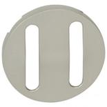 065102 - Лицевая панель для двойного выключателя/переключателя с тонкими клавишами, Legrand Celiane (титан)