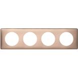 068994 - Рамка 4-постовая Legrand Celiane, прямоугольная, 303х82мм (медь)