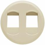 066241 - Лицевая панель для двойной розетки для колонок, Legrand Celiane (слоновая кость)