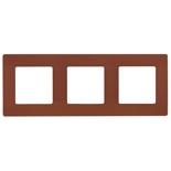 672573 - Рамка 3-х постовая Legrand Etika (какао)