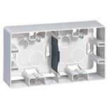 672530 - Коробка накладного монтажа Legrand Etika, двухпостовая (белая)