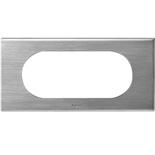069105 - Рамка Legrand Celiane, 4/5М, прямоугольная, 171х82мм, металл (фактурная сталь)