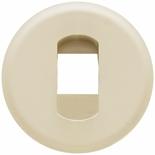 066240 - Лицевая панель для простой розетки для колонок, Легранд Селиан (слоновая кость)