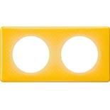 066672 - Рамка 2-постовая Legrand Celiane, прямоугольная, 161х82мм (песочный муар)