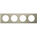066714 - Рамка 4-постовая Legrand Celiane, прямоугольная, 303х82мм (грин перкаль)