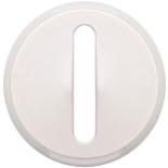 065003 - Лицевая панель для выключателя/переключателя с тонкой клавишей (контурная подсветка), Legrand Celiane (белая)