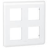 078838 - Рамка Legrand Mosaic, 4-постовая, 8-модульная (белая)