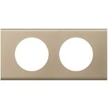 069112 - Рамка 2-постовая Legrand Celiane, прямоугольная, 171х82мм, металл (никель велюр)