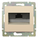 774142 - Розетка одинарная Ethernet Rj45 без захватов, 6 UTP, Легранд Валена (слоновая кость)
