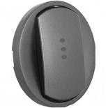 067923 - Лицевая панель для выключателя двухполюсного с индикацией, Legrand Celiane (графит)