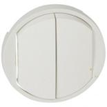 068002 - Лицевая панель для двойного выключателя, Легранд Селиан (белая)
