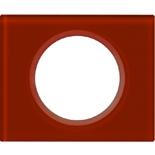 069471 - Рамка однопостовая Legrand Celiane, прямоугольная, 101х84мм, стекло (смальта кармин)