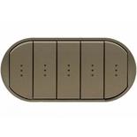 067906 - Лицевая панель для выключателя/переключателя с 5 клавишами и подсветкой, Легран Селян (графит)