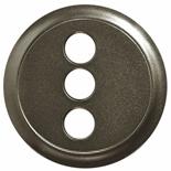 067863 - Лицевая панель для аудио/видео розетки RCA на 3 выхода, Легранд Селян (графит)