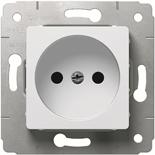 773616 - Розетка электрическая без заземления 2К, 16A, Легранд Карива (белая)