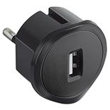 050681 - Компактное зарядное устройство USB, 1.5А, 5В, питание - 220В, Legrand, черное