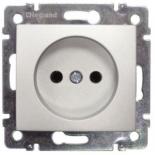 770116 - Розетка электрическая без заземления Легран Валена (алюминий)