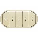 066213 - Лицевая панель для выключателя/переключателя с 5 клавишами и подсветкой, Легранд Селиан (слоновая кость)